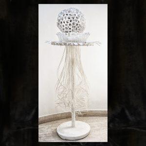 Transparent-plastisches Objekt, Materialcollage,